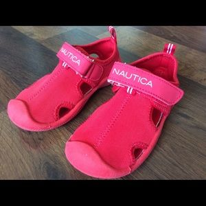Nautica kettle gulf water shoes 8 boys red